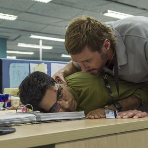 Still of Hugh Jackman and Dev Patel in Capis (2015)