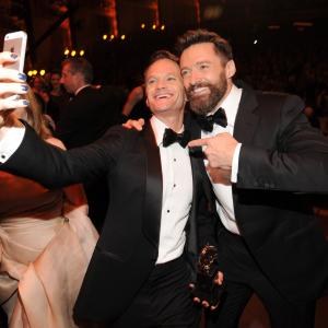 Neil Patrick Harris and Hugh Jackman attend the 68th Annual Tony Awards at Radio City Music Hall on June 8, 2014 in New York City.