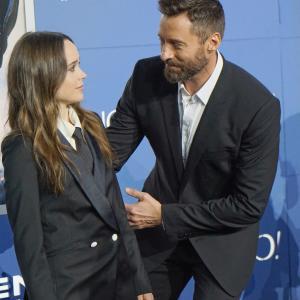 Hugh Jackman and Ellen Page at event of Iksmenai: Praejusios ateities dienos (2014)