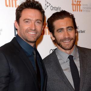 Jake Gyllenhaal and Hugh Jackman at event of Kaliniai (2013)