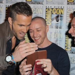 Ryan Reynolds, Hugh Jackman and James McAvoy