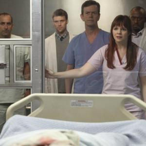 Still of Omar Epps Dylan Baker Peter Jacobson Jesse Spencer and Amber Tamblyn in Hausas 2004