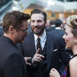 Robert Downey Jr., Chris Evans, Scarlett Johansson