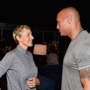 Ellen DeGeneres and Dwayne Johnson