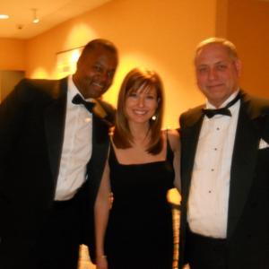 Wayne Keeley with Mary Calvi and Jay Black at Emmy Awards