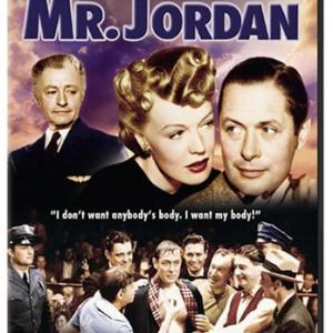 Claude Rains Rita Johnson Evelyn Keyes and Robert Montgomery in Here Comes Mr Jordan 1941