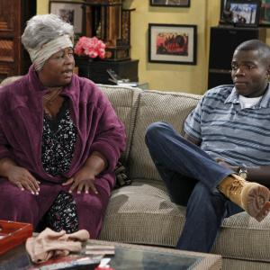 Still of Cleo King and Cliff Lipson in Mike & Molly (2010)