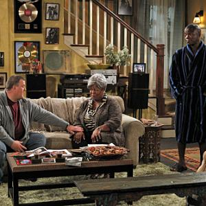 Still of Cleo King, Reno Wilson and Billy Gardell in Mike & Molly (2010)