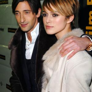 Adrien Brody and Keira Knightley at event of The Jacket 2005