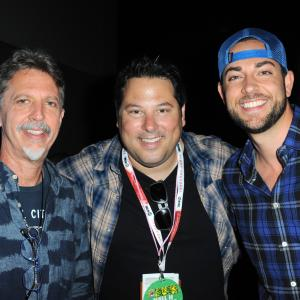 Greg Grunberg Tim Kring and Zachary Levi at event of Heroes Reborn 2015