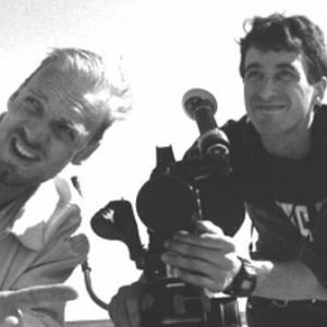 Director Matthew Harrison and cinematographer Howard Krupa on the set of Matthew Harrisons RHYTHM THIEF