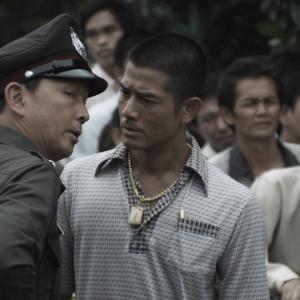 Still of Aaron Kwok and Kai Chi Liu in B+ jing taam (2011)