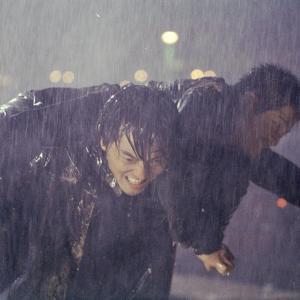 Still of Ekin Cheng and Aaron Kwok in Saam cha hau (2005)