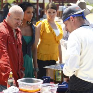Still of Padma Lakshmi Gail Simmons and Tom Colicchio in Top Chef 2006