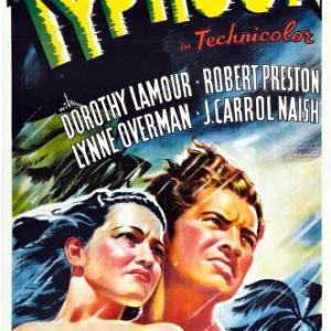 Dorothy Lamour and Robert Preston in Typhoon 1940