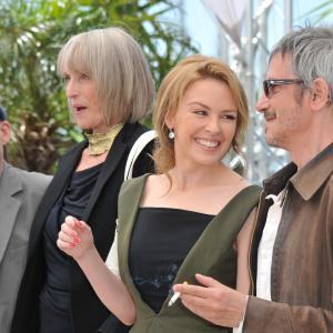 Kylie Minogue, Leos Carax, Denis Lavant and Edith Scob at event of Holy Motors (2012)