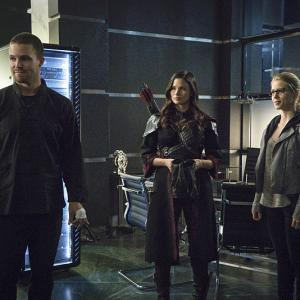 Katrina Law, David Ramsey, Emily Bett Rickards