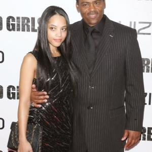 Bianca Lawson and Richard Lawson attend the 'For Colored Girls' premiere