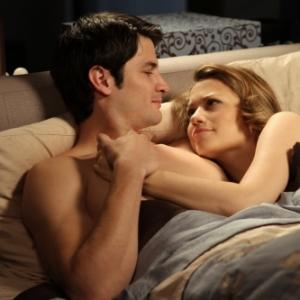 Still of James Lafferty and Bethany Joy Lenz in One Tree Hill (2003)
