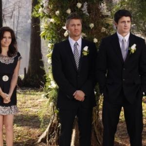 Still of James Lafferty, Bethany Joy Lenz and Chad Michael Murray in One Tree Hill (2003)