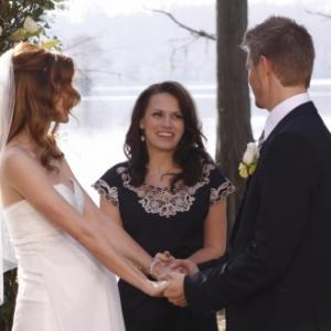 Still of Bethany Joy Lenz, Chad Michael Murray and Hilarie Burton in One Tree Hill (2003)