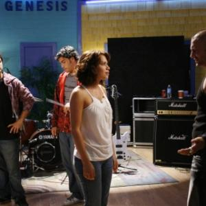 Still of Bethany Joy Lenz, Kevin Federline and Kate Voegele in One Tree Hill (2003)