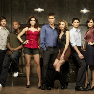 Sophia Bush, Bethany Joy Lenz, Chad Michael Murray, Lee Norris, Antwon Tanner and Hilarie Burton in One Tree Hill (2003)