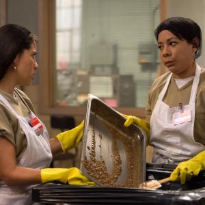Still of Selenis Leyva and Elizabeth Rodriguez in Orange Is the New Black (2013)