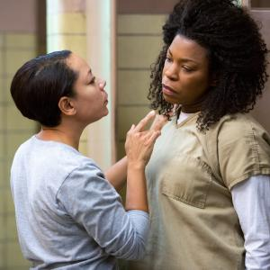 Still of Lorraine Toussaint and Selenis Leyva in Orange Is the New Black (2013)