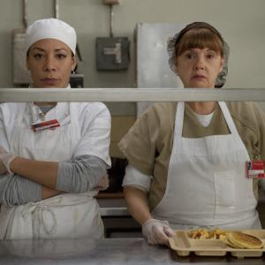 Still of Annie Golden and Selenis Leyva in Orange Is the New Black (2013)