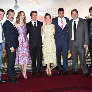Tom Cruise, Doug Liman, Tony Way, Emily Blunt, Jonas Armstrong, Franz Drameh, Charlotte Riley