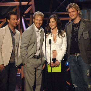 Nick Carter, Howie Dorough, Brian Littrell, Kelly Monaco