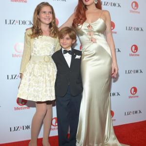 Lindsay Lohan, Taylor Ann Thompson and Trevor Thompson at event of Liz & Dick (2012)