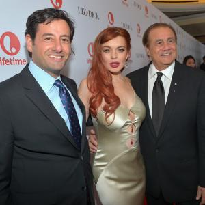 Larry A. Thompson, Lindsay Lohan and Rob Sharenow at event of Liz & Dick (2012)