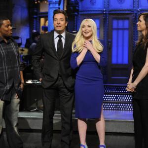 Still of Jimmy Fallon, Lindsay Lohan, Kenan Thompson and Kristen Wiig in Saturday Night Live (1975)