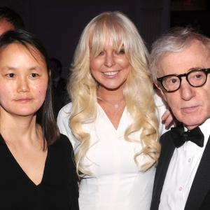 Woody Allen, Lindsay Lohan and Soon-Yi Previn