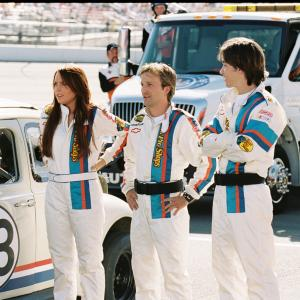 Still of Breckin Meyer, Lindsay Lohan and Justin Long in Herbie Fully Loaded (2005)