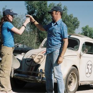 Still of Michael Keaton and Lindsay Lohan in Herbie Fully Loaded (2005)