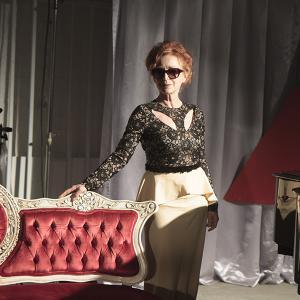 Iris Karina on set of Dear Diamond directed by James Kapner