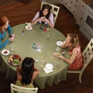 Still of Teri Hatcher, Felicity Huffman, Marcia Cross and Eva Longoria in Nusivylusios namu seimininkes (2004)