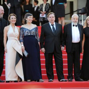 Timothy Spall, Mike Leigh, Dick Pope, Dorothy Atkinson, Marion Bailey, Georgina Lowe