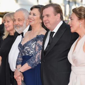 Timothy Spall, Mike Leigh, Dorothy Atkinson, Marion Bailey, Georgina Lowe