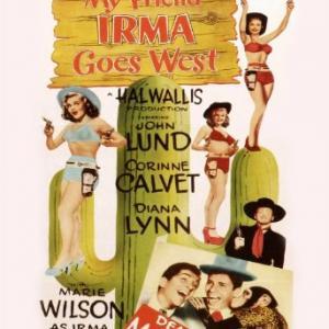 Jerry Lewis, Dean Martin, Corinne Calvet, John Lund, Marie Wilson and Tamba the Chimp in My Friend Irma Goes West (1950)