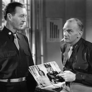 Still of John Lund and Millard Mitchell in A Foreign Affair (1948)