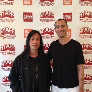 Here with Hong Kong director Herman Yau at the New York Asian Film Festival