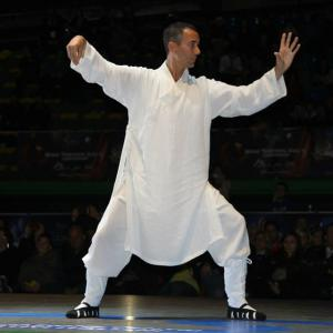 Here performing as a special star gues at the 2014 World Traditional Kung Fu Championships in Rome, Italy