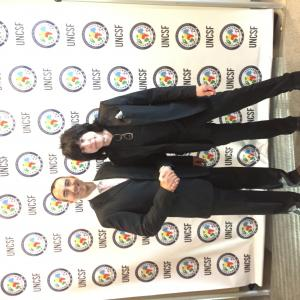 Here with Rock and Roll Hall of Fame Legend Marky Ramone of the Ramones at the United Nations UNCSF