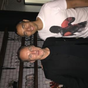 Here with Director/Producer/Writer of Crouching Tiger Hidden Dragon 2 Bey Logan.