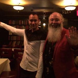 Award winning author, Media consultant and lifetime friend Ric Meyers. Here in duo demonstrating Tai Chi single whip at my Carnegie Hall Concert after-party at Hurley's Saloon, Times Square, NYC