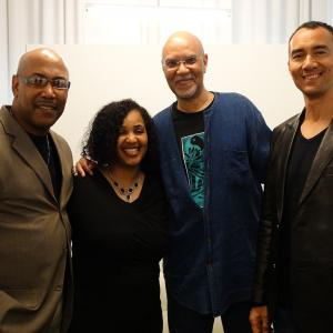 Museum of the Moving Image in Astoria, Queens. Here with TV host of MJ Connection Anita Bailey, Robert Samuels and Director/Producer Warrington Hudlin
